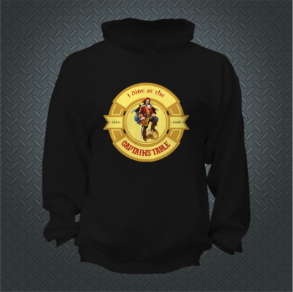 I Dine At The Captains Table Hoodie